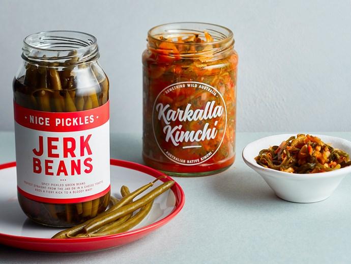 Nice Pickles Jerk Beans and Karkalla Kimchi