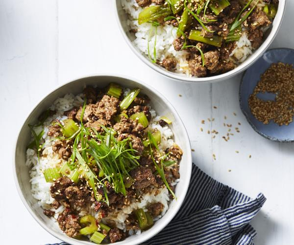 Shaanxi-style lamb with cumin and celery