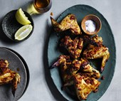 Chicken wings with adjika