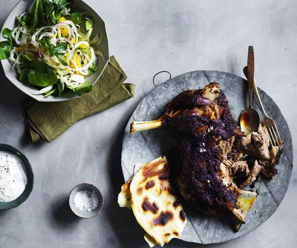 "**[Lamb shawarma](https://www.gourmettraveller.com.au/recipes/browse-all/lamb-shawarma-15965|target=""_blank"")**"