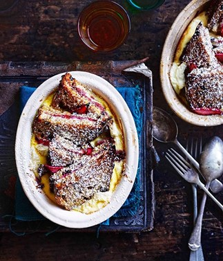 Rhubarb and ricotta bread and butter pudding and other bread and butter pudding recipes