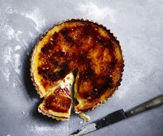 Vanilla custard and burnt-toffee tart