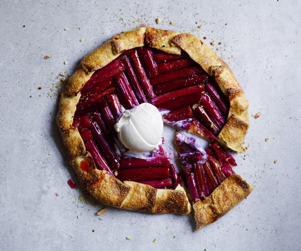 "**[Rhubarb galette](https://www.gourmettraveller.com.au/recipes/browse-all/rhubarb-galette-16062|target=""_blank""