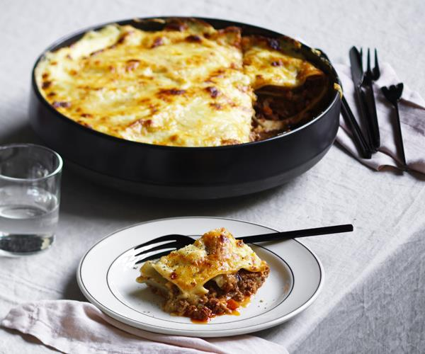 "[**https://www.gourmettraveller.com.au/recipes/chefs-recipes/matt-breens-mums-lasagne-16073**](https://www.gourmettraveller.com.au/recipes/chefs-recipes/matt-breens-mums-lasagne-16073|target=""_blank"")"
