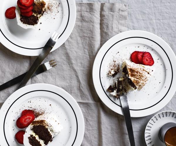 Aaron Turner's Mum's chocolate ripple cake