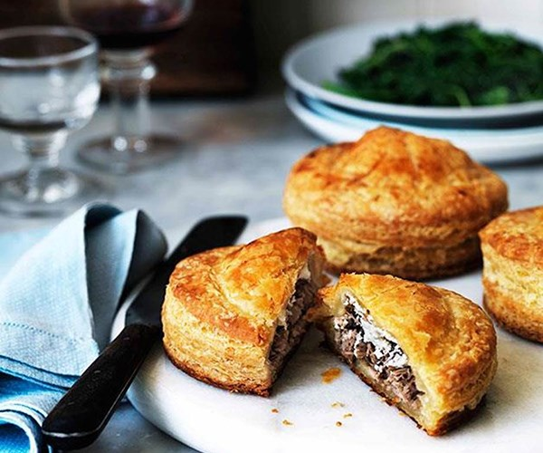 Duck and goat's cheese Pithiviers and other winter lunch ideas