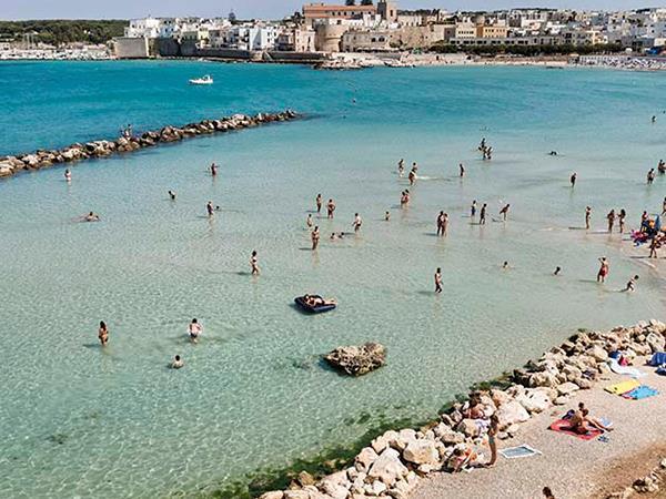 Otranto, midway along Salento's Adriatic coast in Puglia, Italy.