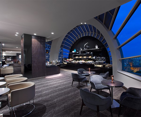 Dazzling city views from The Sheraton Club Lounge