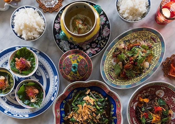 Dishes at Kebaya