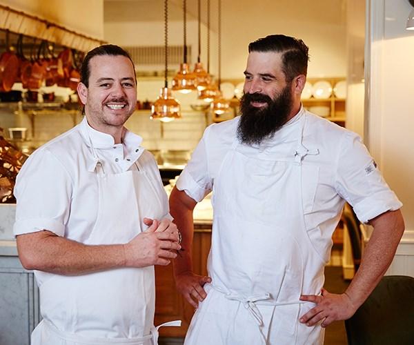 Chefs Jordan Toft (left) and Sam Kane