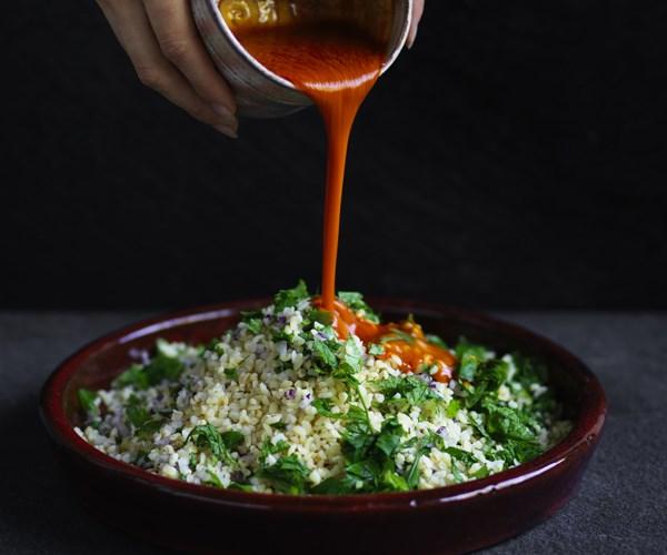 Turkish cracked wheat salad