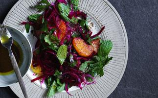 Beetroot and orange salad with sumac dressing