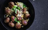 Lamb meatballs with tahini and pine nut sauce