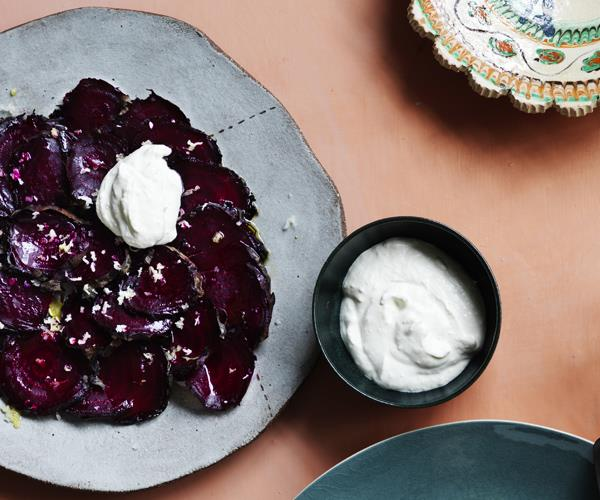 "**[Burnt beetroot carpaccio](https://www.gourmettraveller.com.au/recipes/chefs-recipes/burnt-beetroot-carpaccio-16243|target=""_blank"")**"