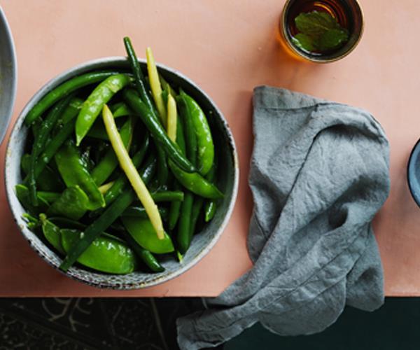 Bag of green beans