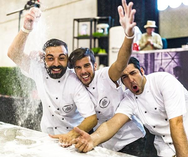 Pizza chefs at the 2017 Italian Wine & Food Festival