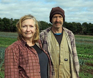 Deri-Anne and Tim Wyatt of Angelica Organic Farm