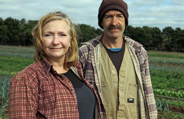 Deri-Anne and Tim Wyatt of Angelica Organic Farm
