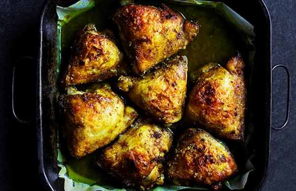 Hwayej-spiced chicken thigh cutlets