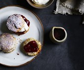 Strawberry, buckwheat and kefir scones