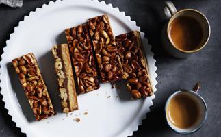 Lemonpi's peanut and miso shortbread bars