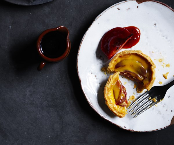 "**[Quince, rooibos and coriander seed tarts](http://www.gourmettraveller.com.au/recipes/browse-all/quince-rooibos-and-coriander-seed-tarts-16364|target=""_blank"")**"