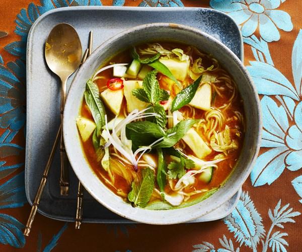"**[Tony Tan''s Asam laksa](https://www.gourmettraveller.com.au/recipes/chefs-recipes/asam-laksa-16365|target=""_blank"")**"