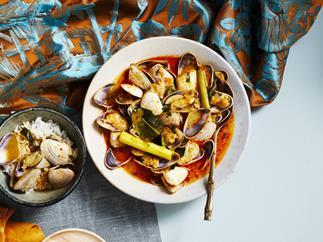 Pipis with Batak sauce