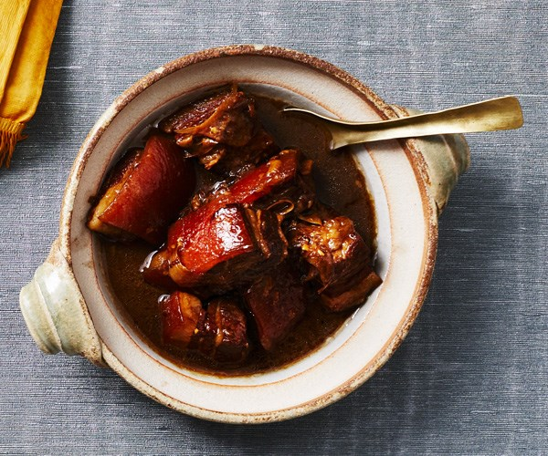 Braised pork belly with soy sauce