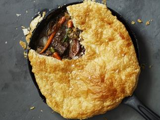 Beef and vegetable pot pie