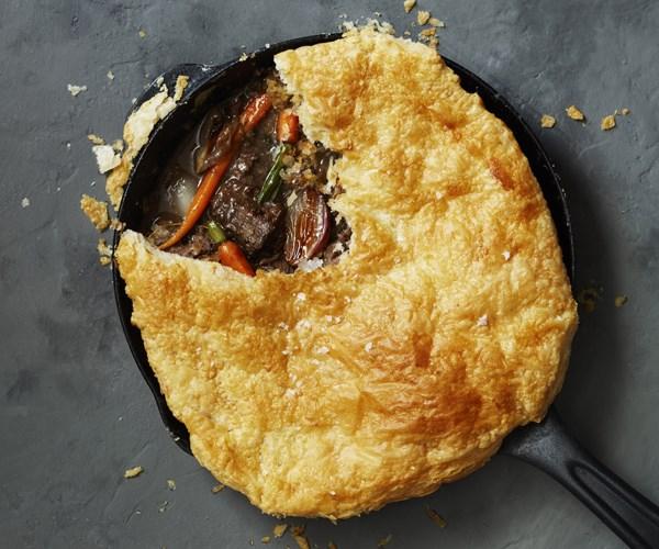 Beef and vegetable pot pie