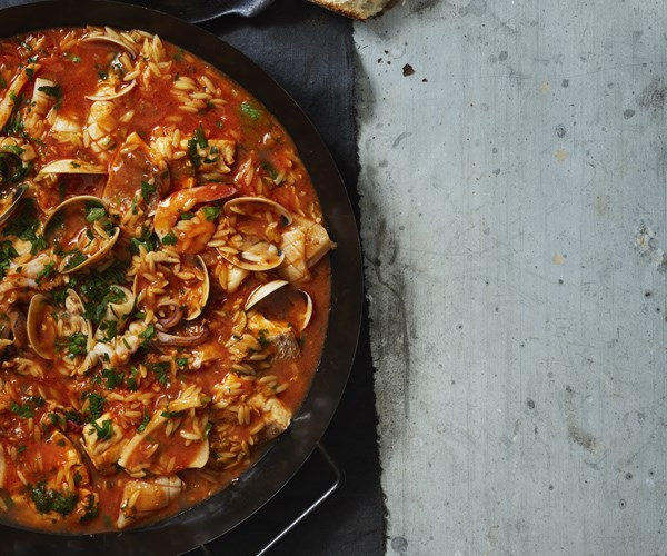 """[Seafood stew with risoni](https://www.gourmettraveller.com.au/recipes/browse-all/seafood-stew-with-risoni-16374