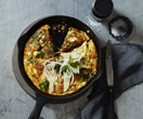 Fennel and 'nduja frittata