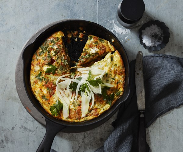 "**[Fennel and 'nduja frittata](https://www.gourmettraveller.com.au/recipes/browse-all/fennel-and-nduja-frittata-16378|target=""_blank"")**"