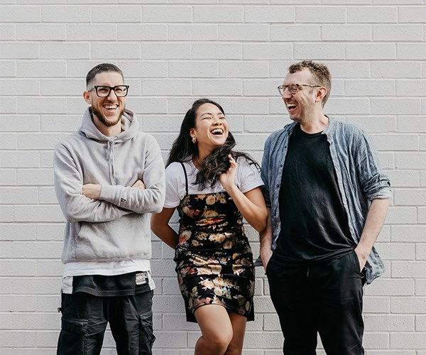 Mitch Orr, Sophia Thach and Cam Fairbairn - the team behind Kingdom of Rice