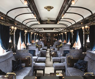 One of the suites on the Venice Simplon-Orient Express, which is up there with the most luxurious trains in the world