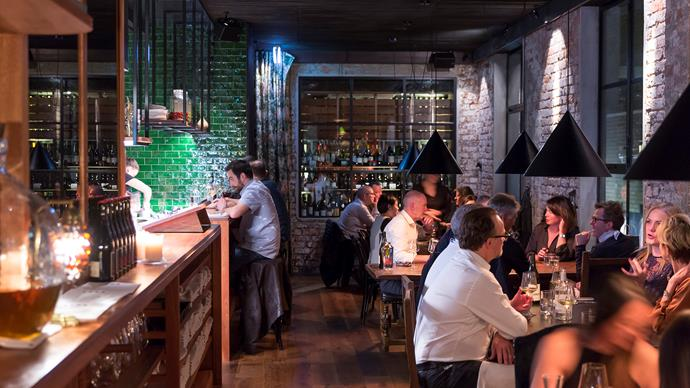 The dining room at Lesa, the newest restaurant from the Embla team