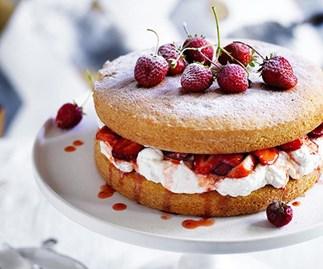 Victoria Sponge, a classic dessert.