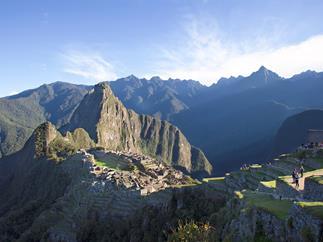 Machu Picchu at dawn