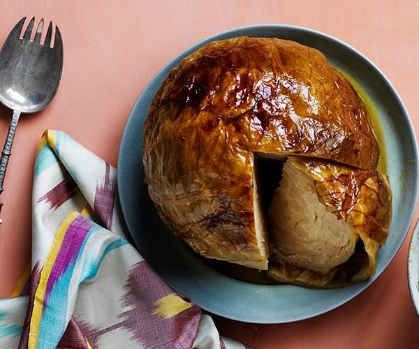 Whole roasted cabbage cake