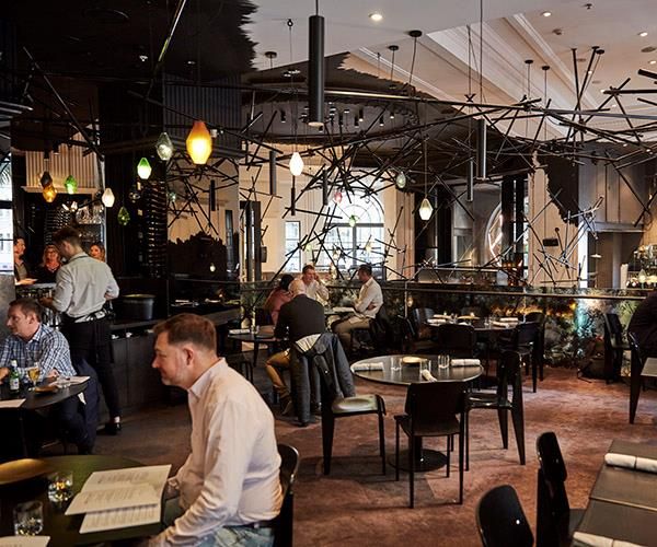 The mezzanine at Bentley, which is fresh from a renovation and menu overhaul