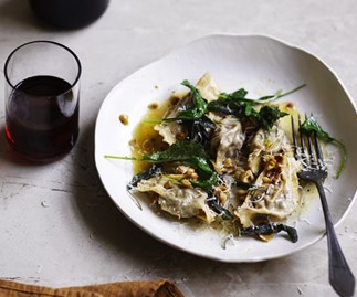 Beef agnolotti with hazelnut and sage butter