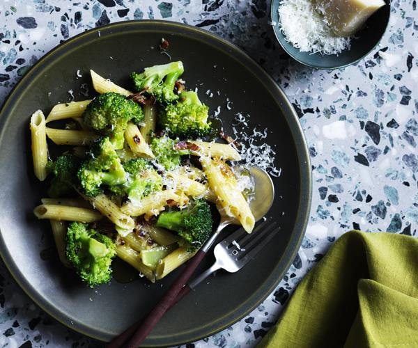 Penne with broccoli and pancetta pangrattato