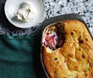 Apple and berry budino