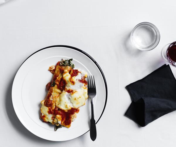 "[Sarah Cicolini's (Santo Palato's) beef and ricotta cannelloni](https://www.gourmettraveller.com.au/recipes/chefs-recipes/beef-and-ricotta-cannelloni-16487|target=""_blank"")"