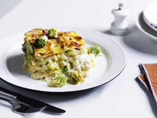 Lasagne with romanesco (Lasagne con broccolo romanesco)
