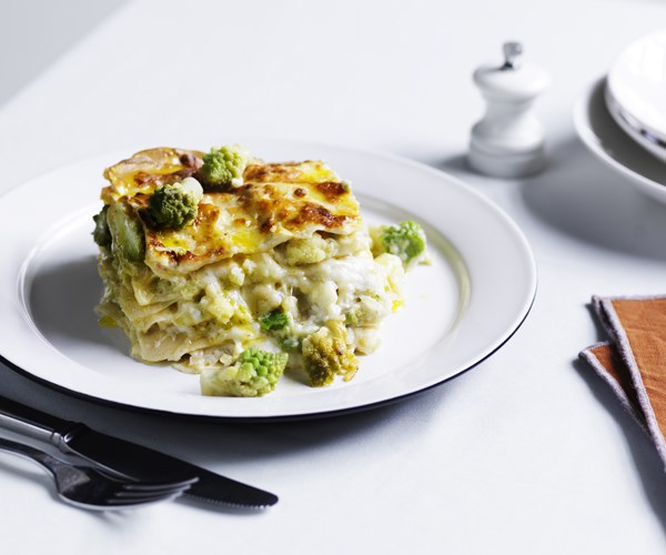"[Lasagne con broccolo romanesco (Lasagne with romanesco)](https://www.gourmettraveller.com.au/recipes/chefs-recipes/lasagne-with-romanesco-16489|target=""_blank"")   ""In Italy, lasagne is always made with meat, but I often swap it for romanesco (see p109), Roman cauliflower, which I cook beyond the point of doneness,"" says Cicolini. ""The longer cooking time pushes the romanesco past its natural sweetness and pulls out all these savoury flavours. It's a complex dish with layered flavours to the salt coming from the anchovies and Parmigiano-Reggiano."""