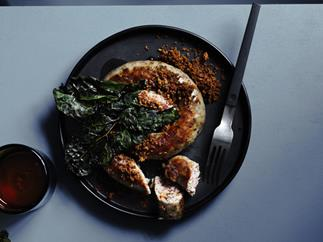 Lucanian sausages with crisp cavolo nero