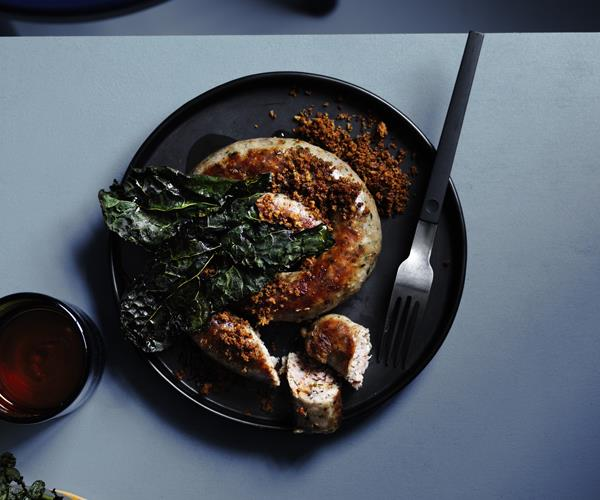 "**[Guy Grossi's Lucanian sausages with crisp cavolo nero](https://www.gourmettraveller.com.au/recipes/chefs-recipes/lucanian-sausages-16498|target=""_blank"")**"