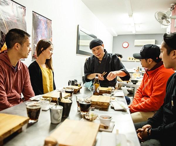 Chef Shinji Matsui at Sashimi Shinsengumi
